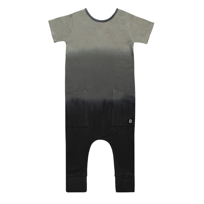 Short Sleeve Hip Pocket Rag - 'Dip Dye' - India Ink