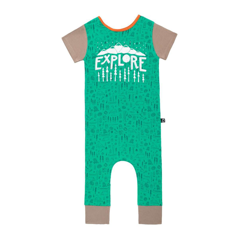 Short Sleeve Rag - 'Explore' - Green Camping