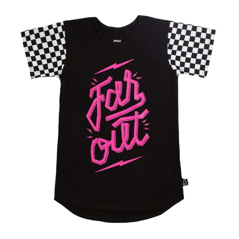 Kids OG Style Tee - 'Far Out' - Black