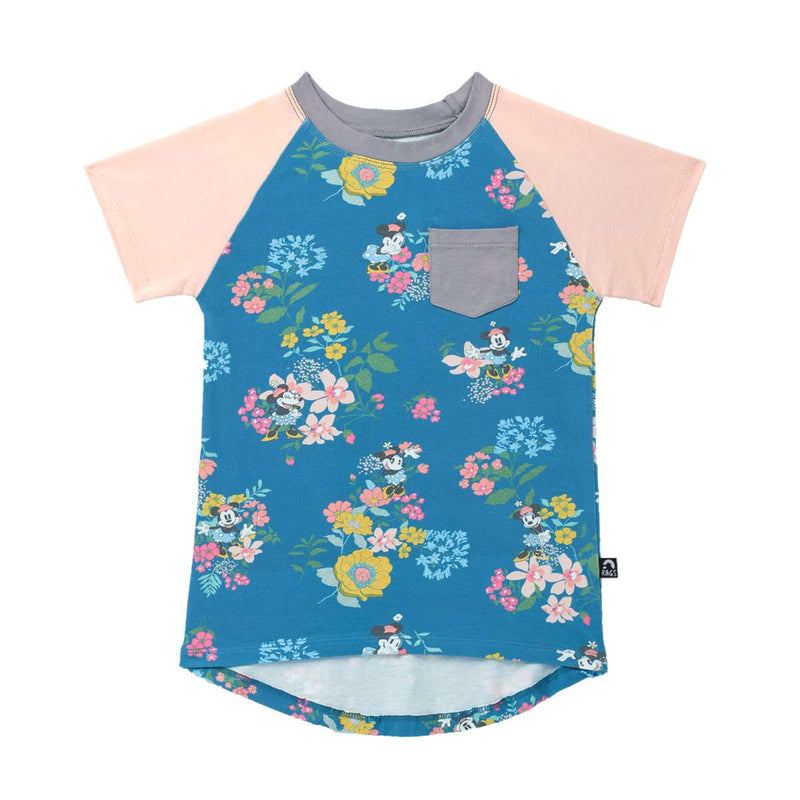 **PREORDER** Chest Pocket Tee Shirt  - 'Minnie Mouse Floral' - Disney Collection from RAGS