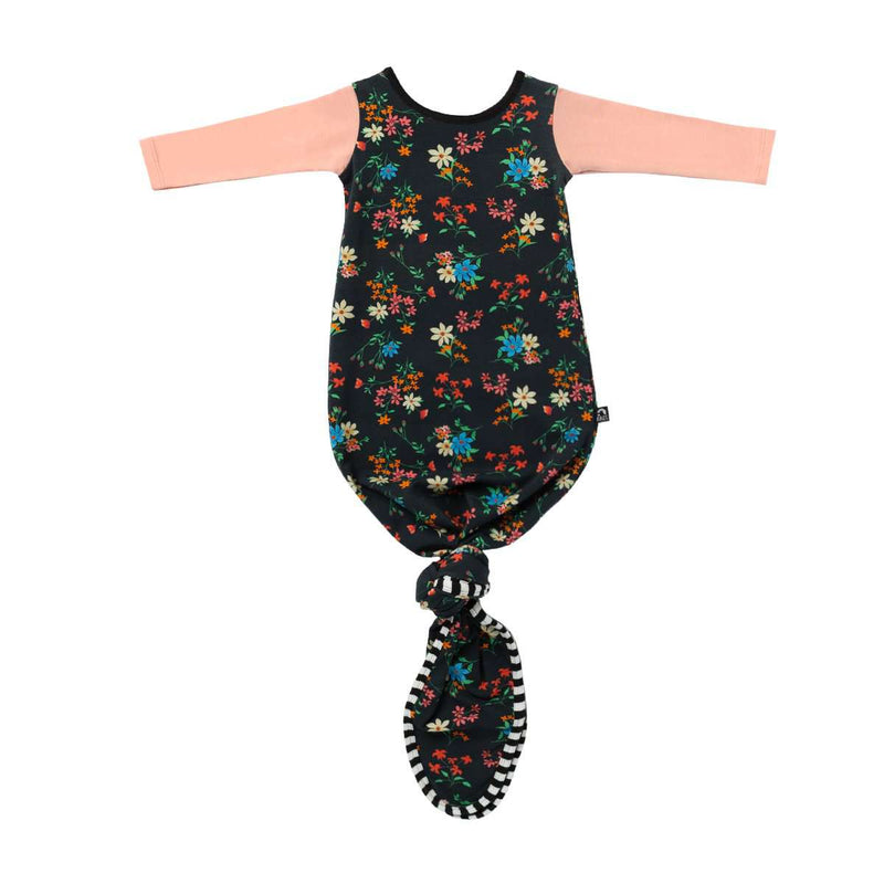 Baby Pouch - 'Black Floral'