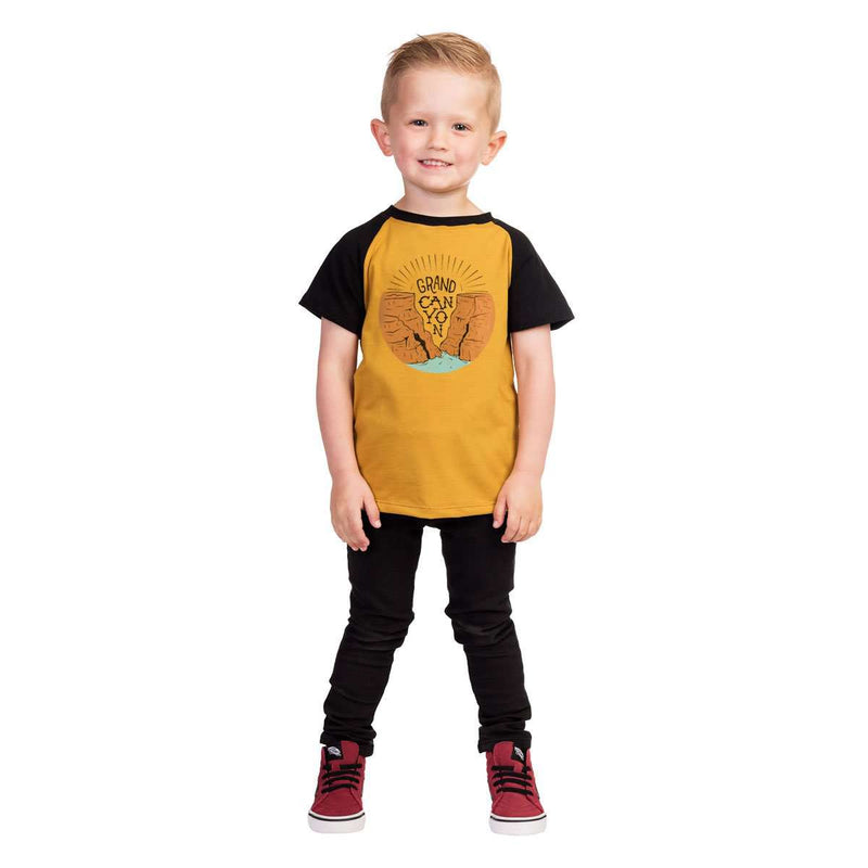 Kids Raglan Drop Back Tee Shirt  -  'Grand Canyon'