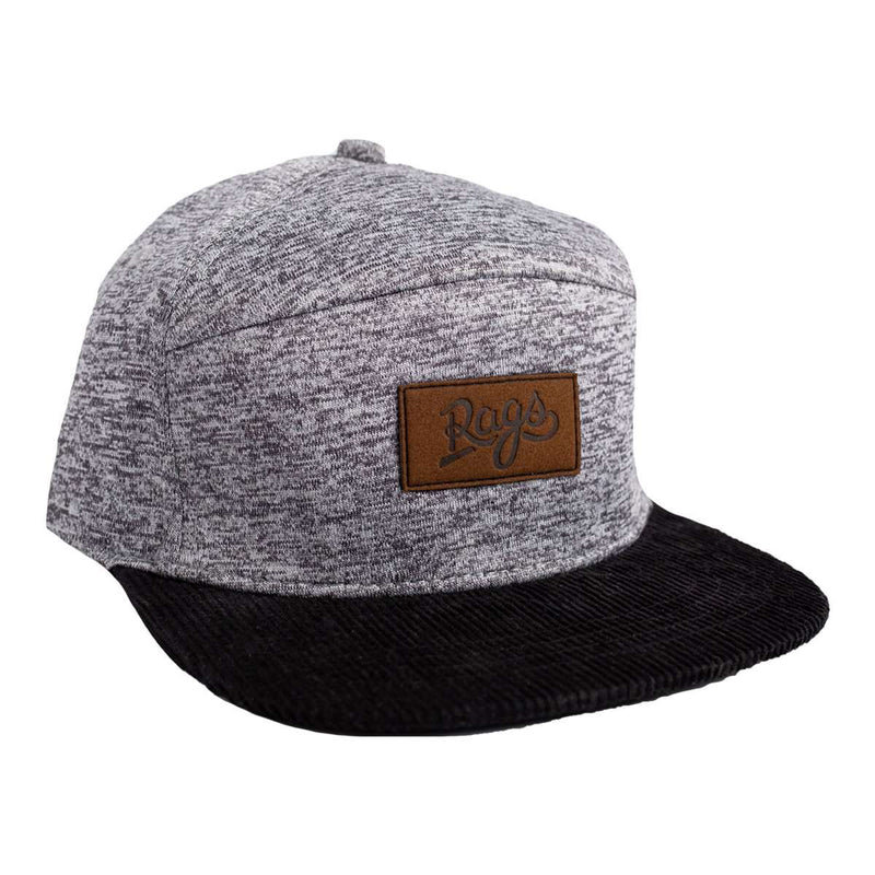 Kids Hat - 'Heather Grey' - Black Brim