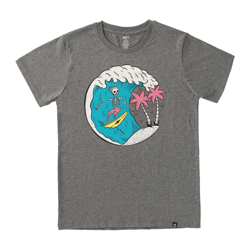 **PREORDER** Adult Unisex Tee - 'Surfs Up' - Charcoal