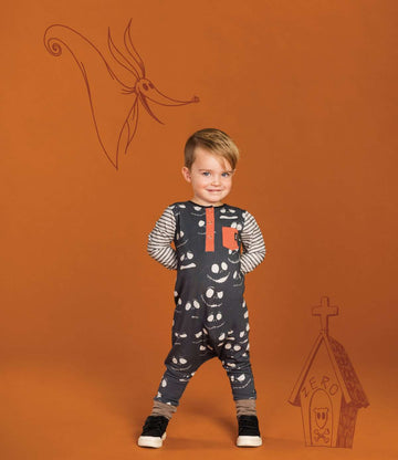 Long Sleeve Pocket Henley Rag - 'Jack Skellington' - Disney Collection from RAGS