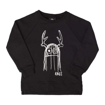 Kids Crewneck Sweatshirt - 'Trinny' - Black