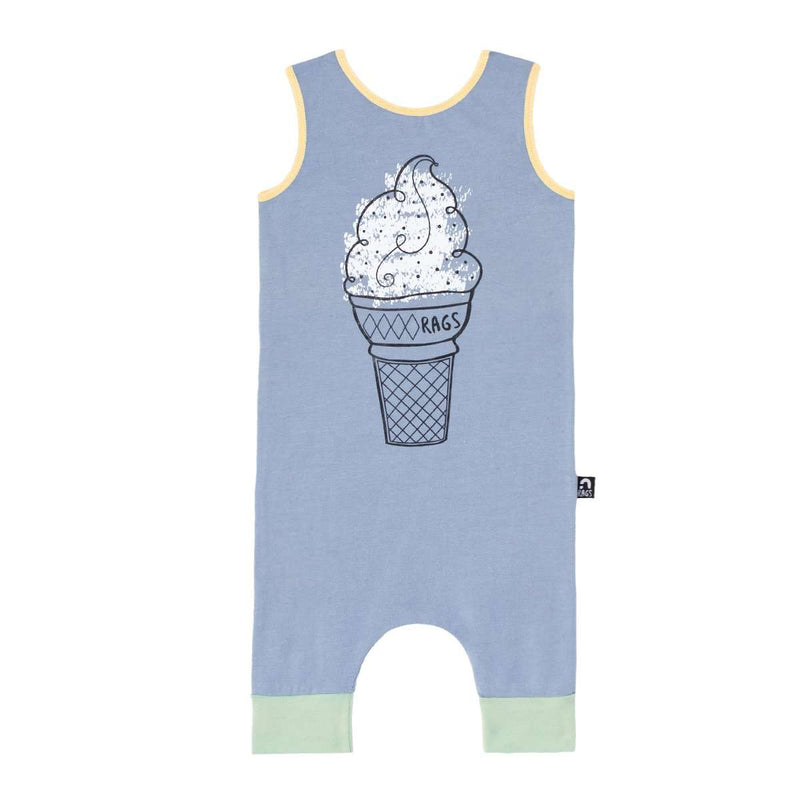 Tank Capri Rag - 'King Cone' - Dusty Blue