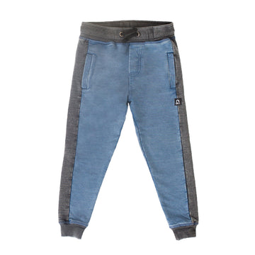 Kids Joggers - 'Indigo Blue Denim Stone Wash'