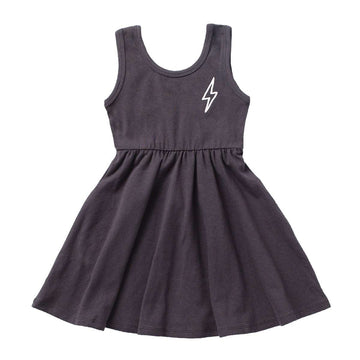 Tank Swing Dress - 'Lightning' - Asphalt