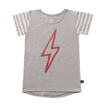 Kids OG Style Tee - 'Lightning' - Heather Grey