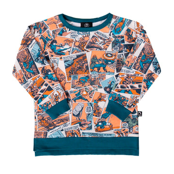 Kids Sweatshirt - 'Avengers Comic'- Marvel Collection from RAGS