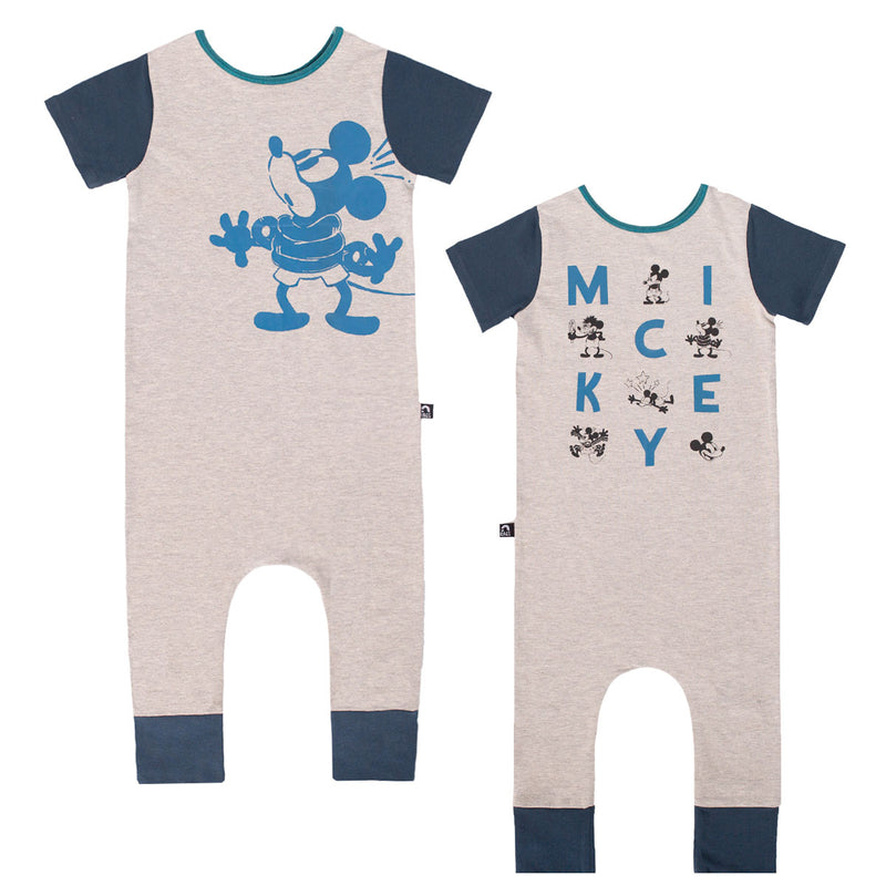 Short Sleeve Rag Romper - 'M I C K E Y Double Sided' - Disney Collection from RAGS