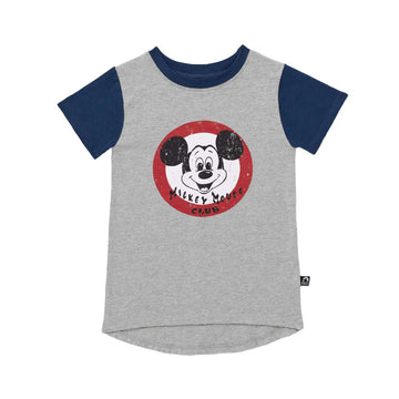 Kid's Drop Back Tee Shirt - 'Mickey Mouse Club' - Disney Collection from RAGS