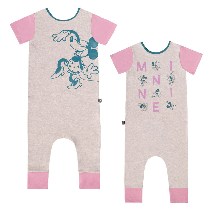 Short Sleeve Rag Romper - 'M I N N I E Double Sided' - Disney Collection from RAGS