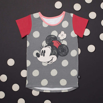Kid's OG Style Tee - 'Minnie Flower' - Pewter