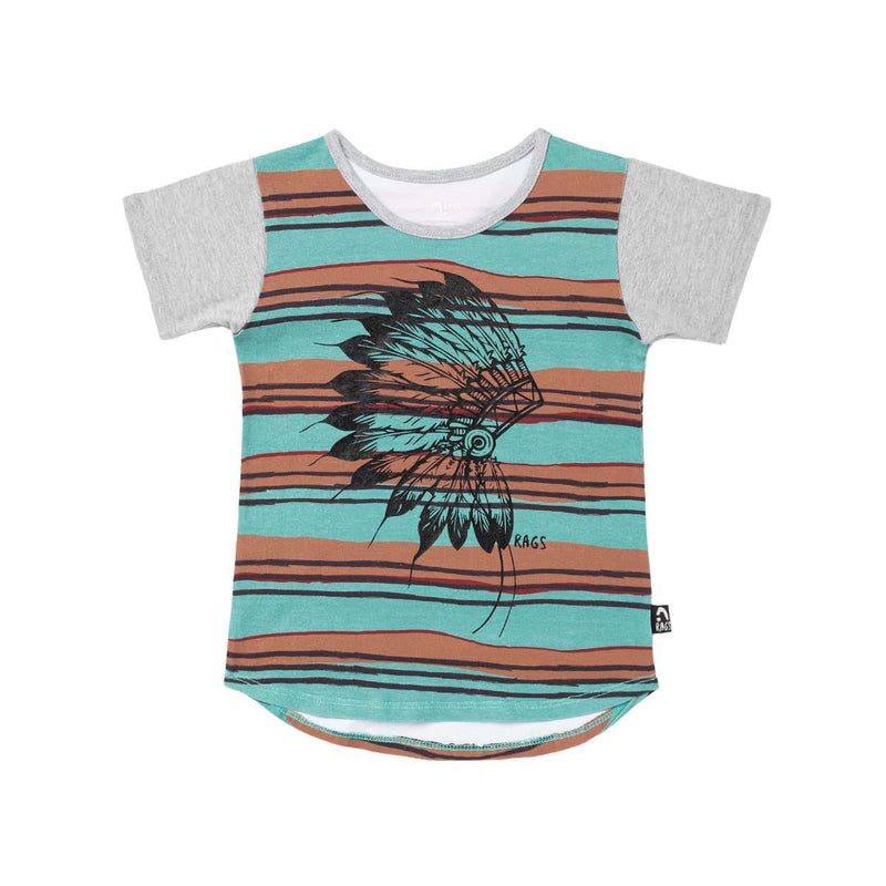Kids OG Style Tee - 'Native' - Sketchy Stripes