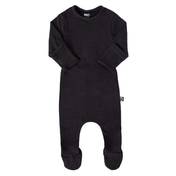 Newborn Essentials Rag Romper Long Sleeve - 'Newborn Rag in Phantom'