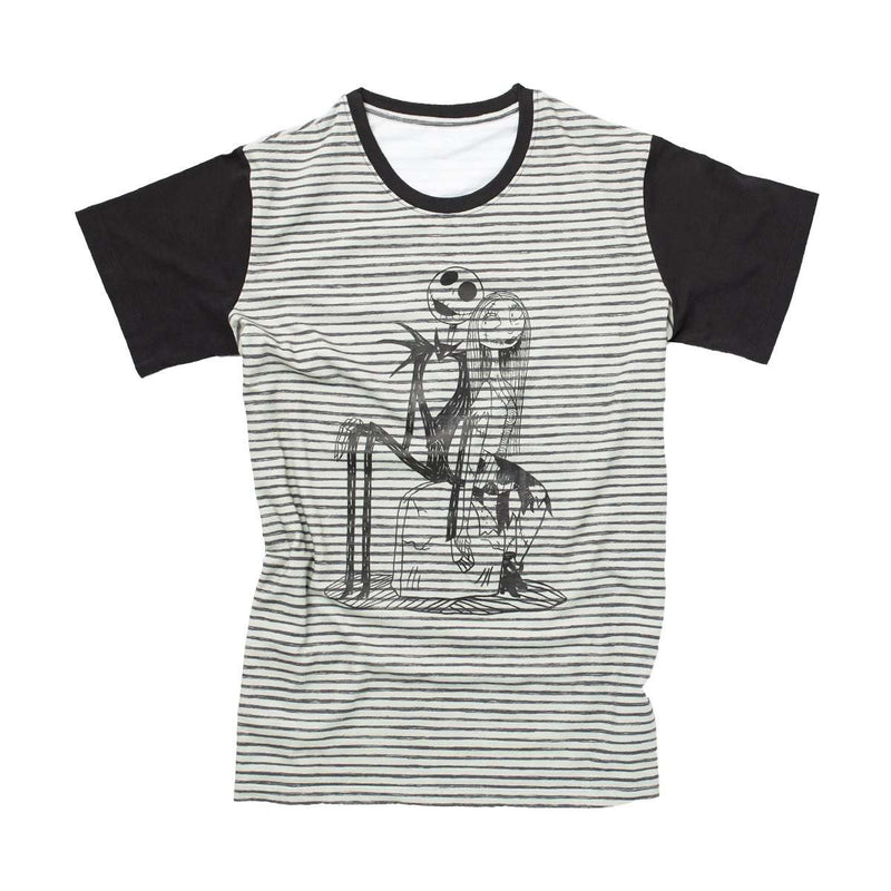 Adult Unisex Tee - 'Jack & Sally' - Disney Collection from RAGS