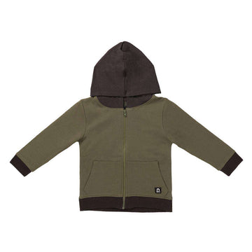 Kids Pocket Hoodie - 'Army Green'