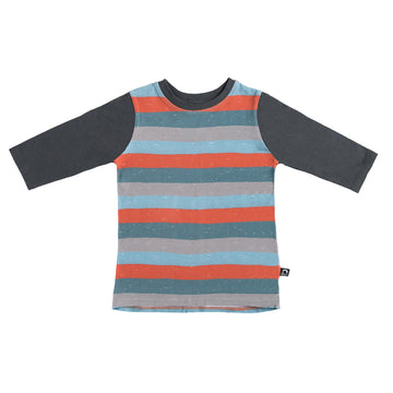 3/4 Sleeve Tee - 'Paint Stripe' - India Ink