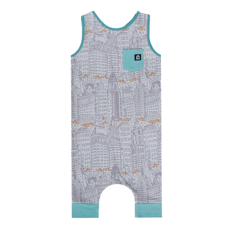Tank Capri Chest Pocket Rag - 'NYC Cityscape' - Griffin