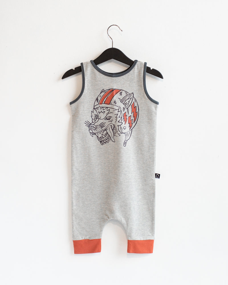 Tank Capri Rag - 'Flying Wolf' - Heather Grey