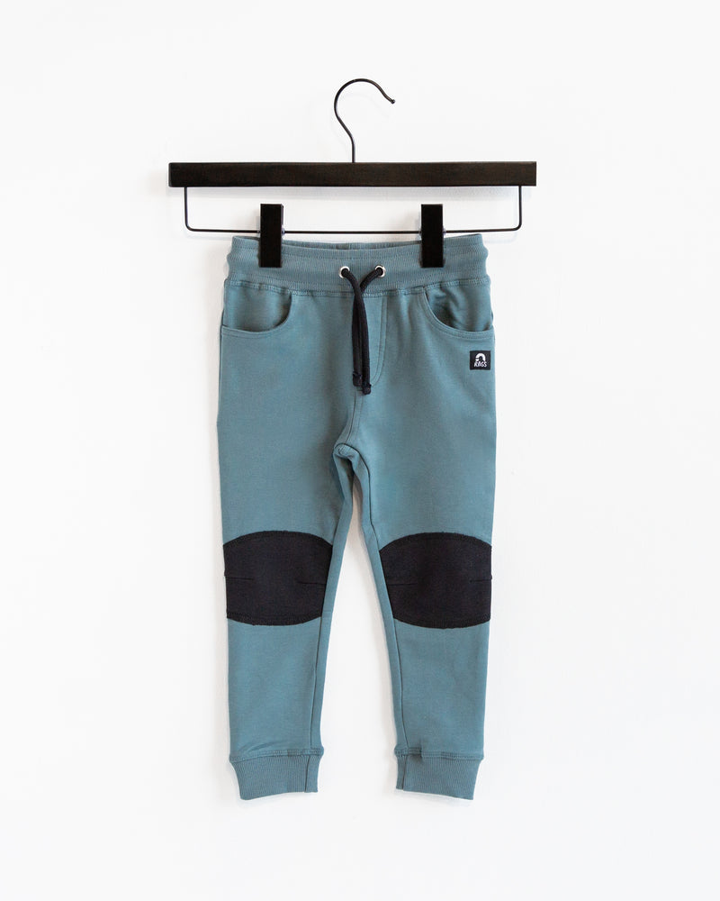 Kids Joggers with Knee Pads - 'Bluestone Stone Wash'