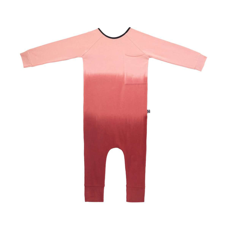 Long Sleeve Raglan Big Pocket Rag - 'Pink Ombre'