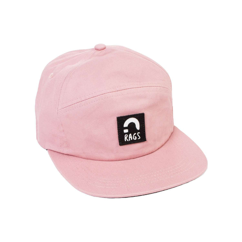 Kids Broken H Panel Clipback Hat - Pink 'RAGS'