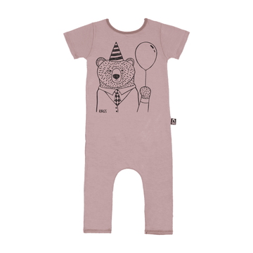 Short Sleeve RAG - 'Party Bear' - Dusty Purple