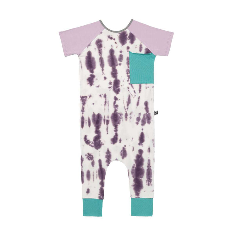 Short Sleeve Raglan Big Pocket Rag - 'Lavender Tie Dye' - Easter