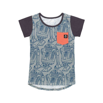 Short Sleeve Chest Pocket Tee - 'R2D2' - Star Wars Collection from RAGS