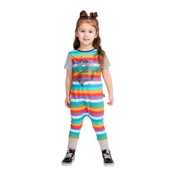Short Sleeve Rag - 'Glam the Unicorn' - Spring Rainbow