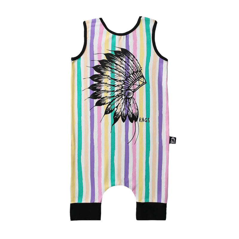 Tank Capri Rag - 'Native' - Pastel Stripe