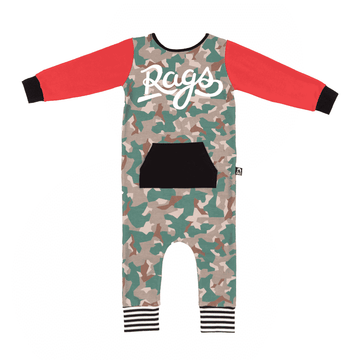 Long Sleeve RAG with Hoodie Pocket - 'Camo RAGS'