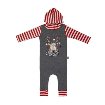 3/4 Length Sleeve Hooded RAG - 'Rupert the Reindeer' - Christmas Collection