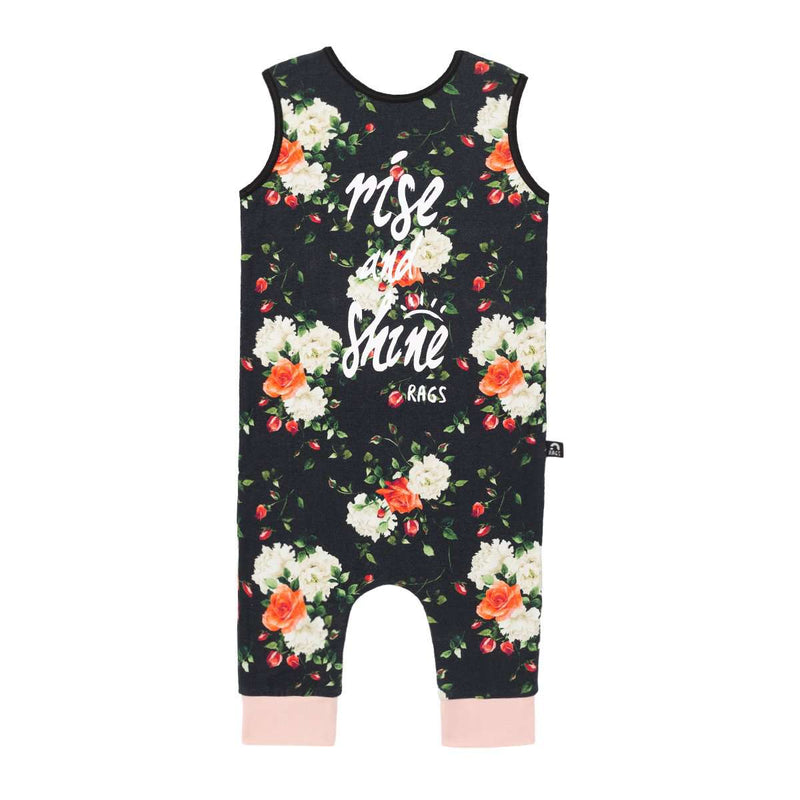 Tank Capri Rag - 'Rise and Shine' - Black Floral