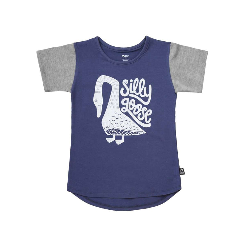 Kids Drop Back Tee Shirt - 'Silly Goose' -Sargasso Sea
