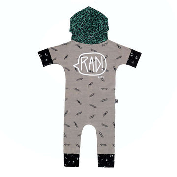 3/4 Sleeve Dolman Hooded Rag - 'RAD!' - Skateboards