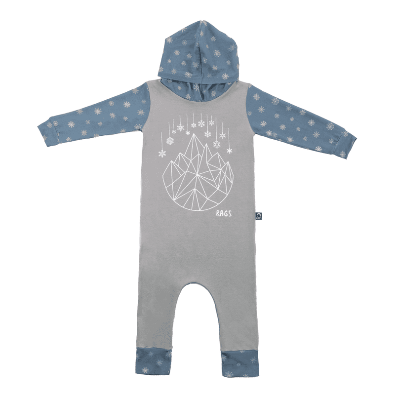Long Sleeve Hooded Holiday Rag - 'Geo-Snowflake'