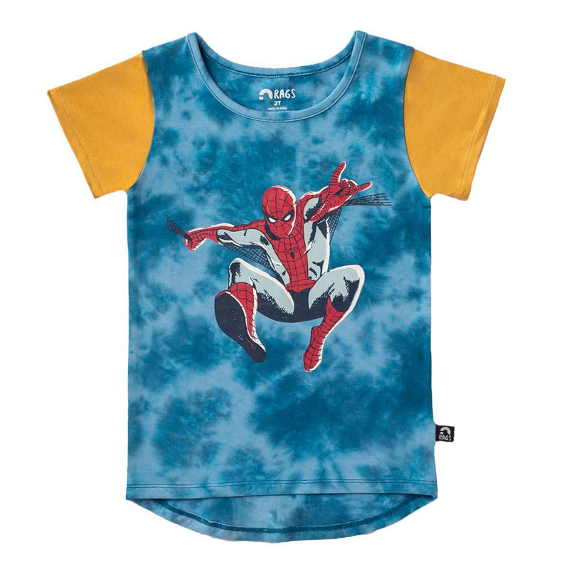 Kids OG Style Tee - 'SpiderMan' - Marvel Collection from Rags - Tie Dye