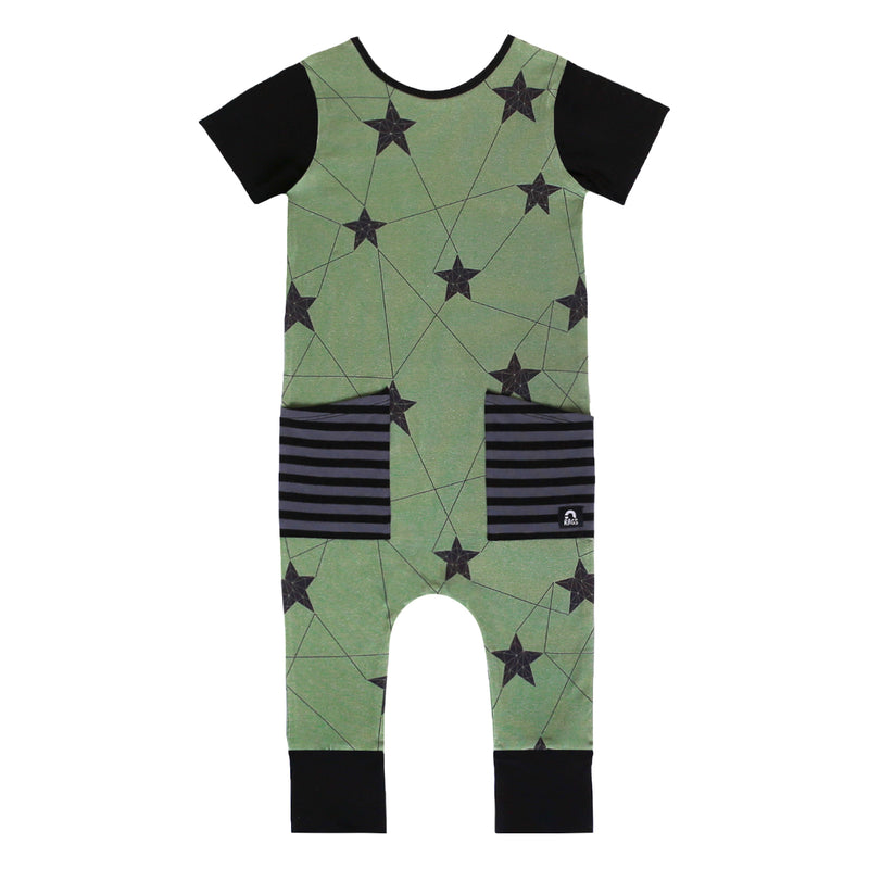 Short Sleeve Hip Pocket Rag - 'Winter Star' - Green