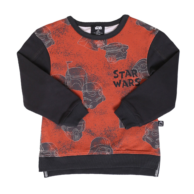 Kids Drop Shoulder Sweatshirt - 'Star Wars Helmets' - Star Wars Collection from RAGS