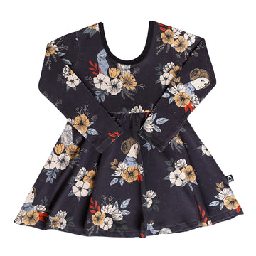 Long Sleeve Swing Dress - 'Leia Floral' - Star Wars Collection from RAGS