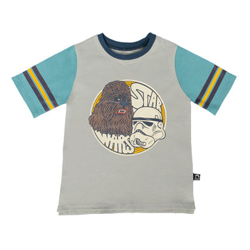 Retro Sleeve Kids Tee - '$22 at Checkout' - 'Stormtrooper & Chewie' - Star Wars Collection from RAGS