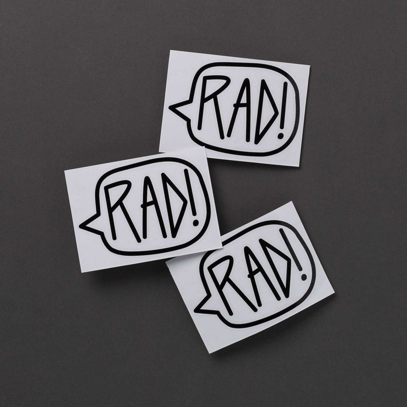 Single Sticker - 'Black Rad' - 3 Inch