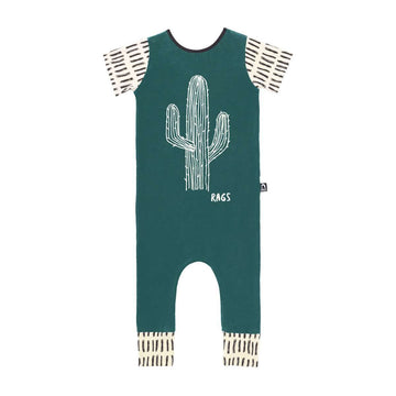 Short Sleeve Rag - 'Cactus' - Deep Lake
