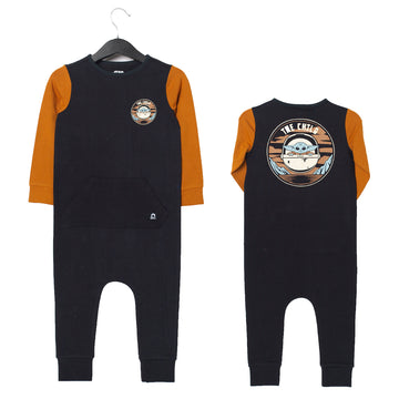 Long Sleeve Kangaroo Pocket Rag Romper - 'The Child Double Sided' - Star Wars Collection from RAGS