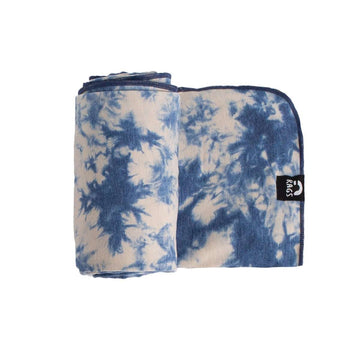 Baby Swaddle - 'Deep Water Tie Dye' - Single Pack