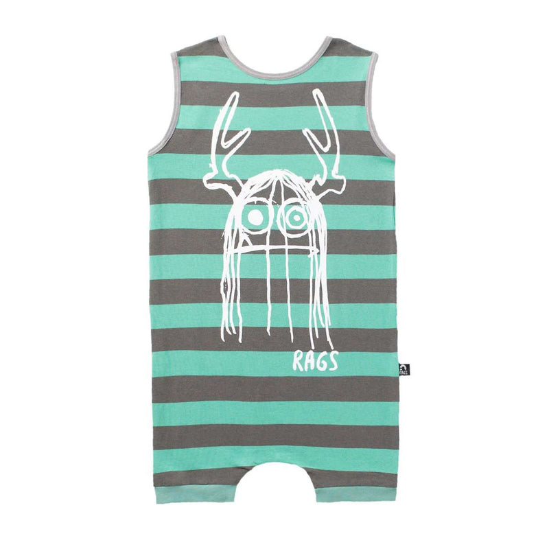 Tank Short Rag - 'Trinny' - Teal Stripe